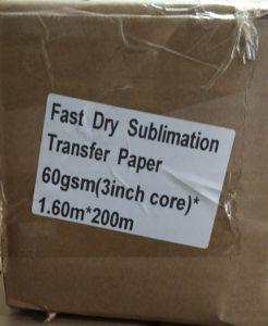 Kertas Sublim Fast Dry 60 gsm